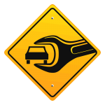Icon Sign Yellow Wrench