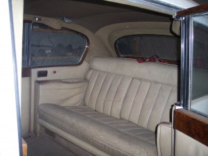 Stunning reupholstered seats in the Austin Vandenplas Princess Limousine - Car restoration by New Ireland Motors
