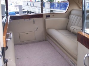 Image of inside of the Austin Vandenplas Princess Limousine, which was restored by New Ireland Motors in Baldoyle Industrial Estate